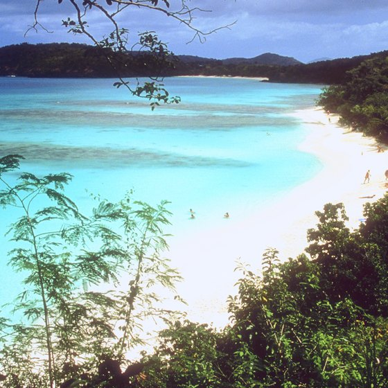 If you are looking for solitude, the beaches on St. John, in the U.S. Virgin Islands, will fit the bill.