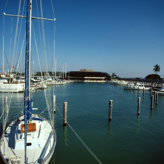 Florida's many marinas make getting around accessible by boat.