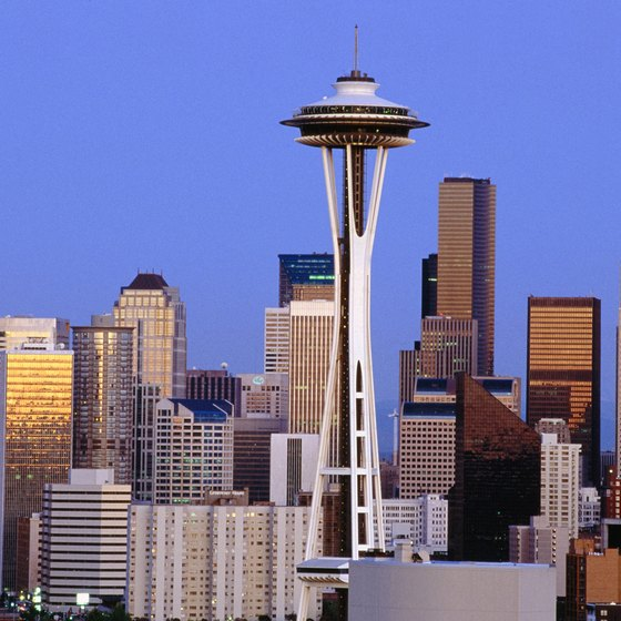 Washington's famous places include the Space Needle in Seattle.