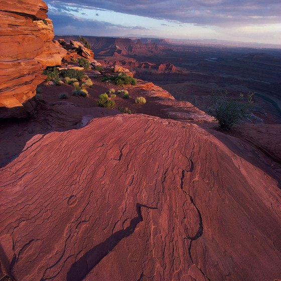 Canyons surround Dead Horse Point.