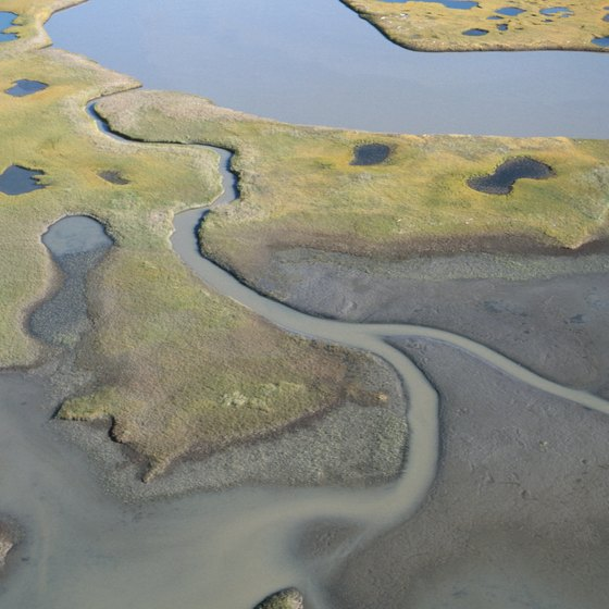 The Mackenzie River flows through Canada's Northwest Territories.