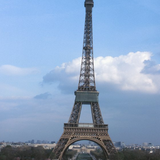 The Eiffel Tower has restaurants on the first and second floors.