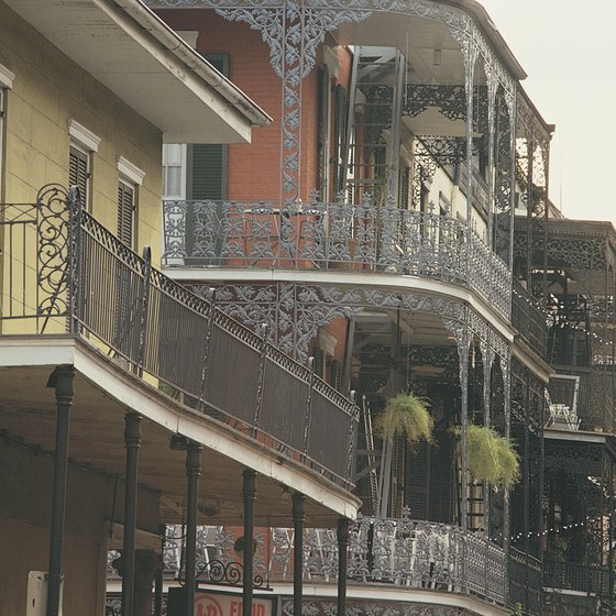Balconies in the French Quarter of New Orleans