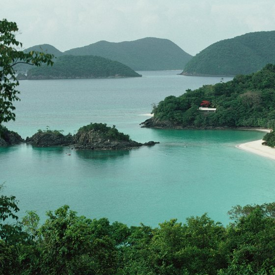 The white sandy beaches and unspoiled forested hills are major tourism draws for the U.S. Virgin Islands.