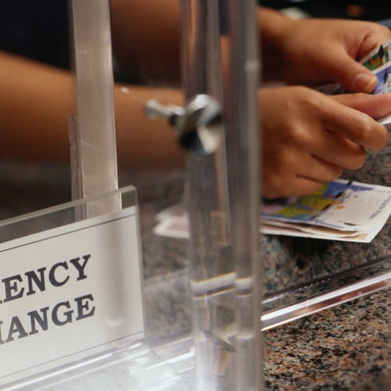 Many international banks in major urban areas have dedicated currency-exchange counters.