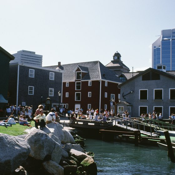 Visitors can step back in time at the historic waterfront in Halifax, Nova Scotia.