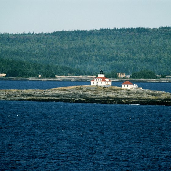 Egg Rock Lighthouse is in Frenchman Bay off the coast of Maine.