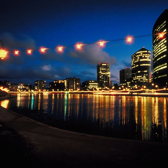The lights at Lake Merritt in Oakland are charming, and the walk along the lakeshore is always free.
