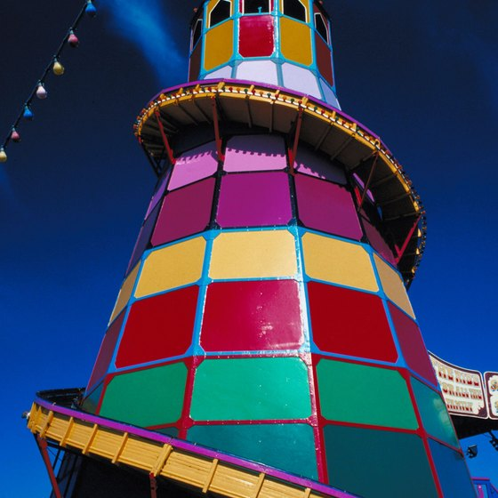 Hunstanton's funfair features this colorful helter skelter.