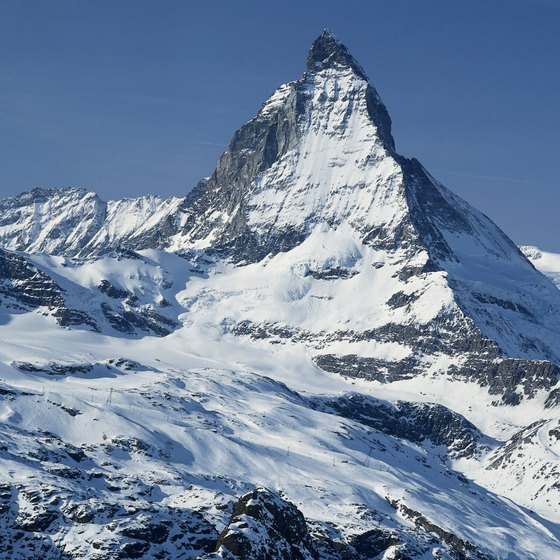 The Matterhorn is one of the most recognizable peaks in Switzerland.