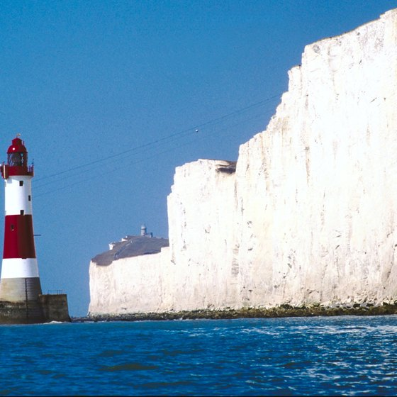 The White Cliffs of Dover in Sussex, England