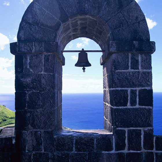 Brimstone Hill Fortress National Park, a UNESCO World Heritage Site, is on St. Kitts.