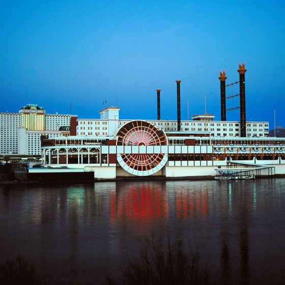 Riverboat casinos are abundant along the Ohio River across the banks from Kentucky.