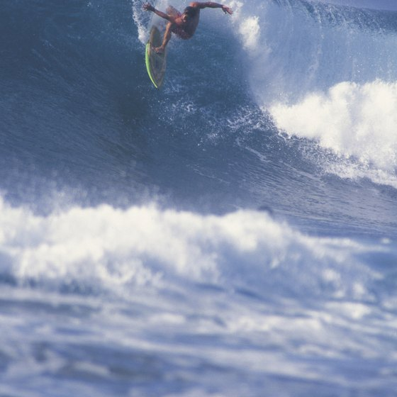 Surfers come to North Shore Oahu beginning in November.