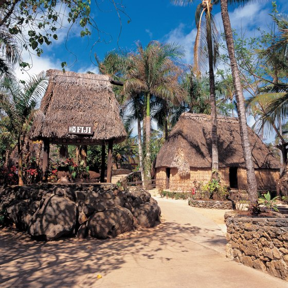 "The traditional ""vales,"" or thatched huts, are in use in Fiji today."