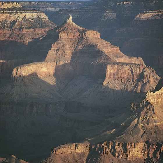The Grand Canyon stretches to the borders of three states.