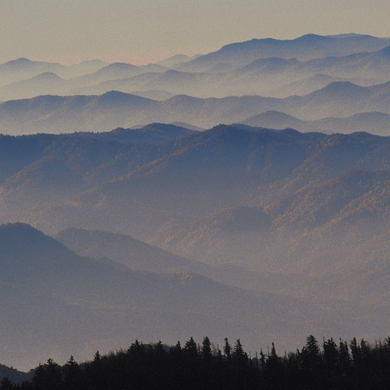 The Great Smoky Mountains contain many of the loftiest peaks east of the Mississippi.