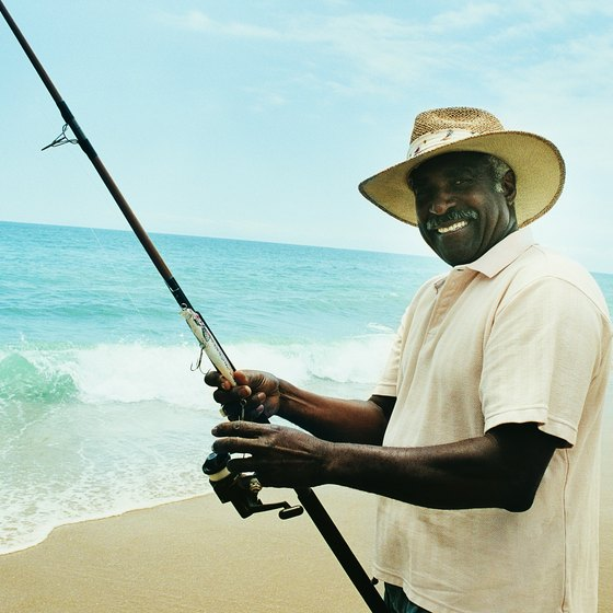 Southern Florida surf fishermen catch a wide range of saltwater game fish.