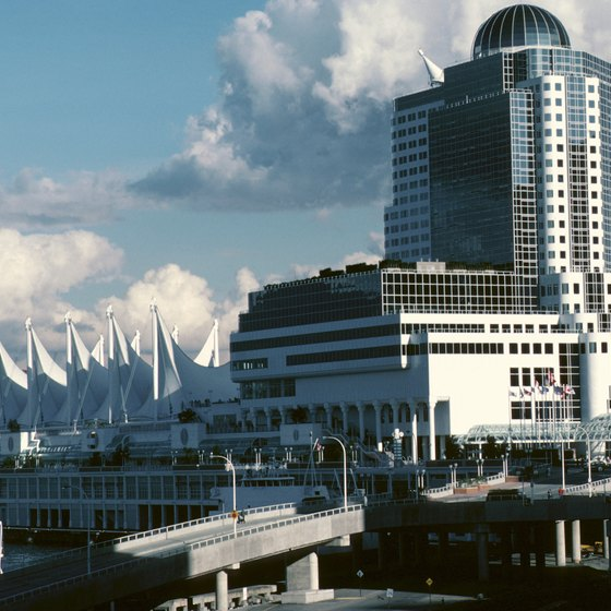 Some tours include a visit to Canada Place on Vancouver's waterfront.