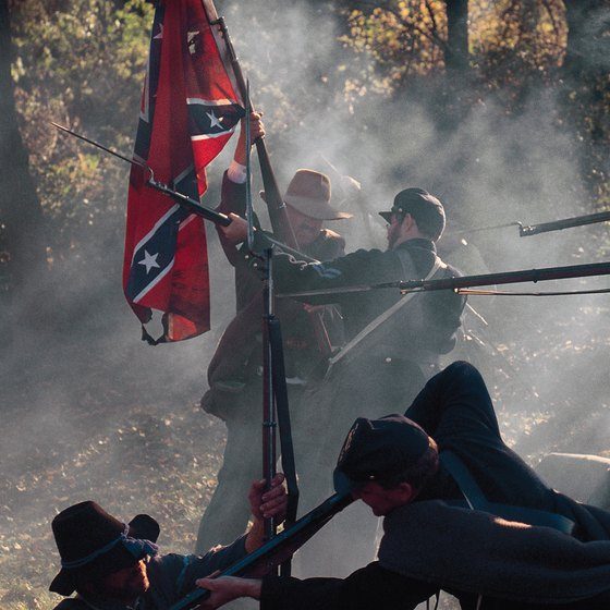 Civil War enthusiasts often participate in historical period reenactments.