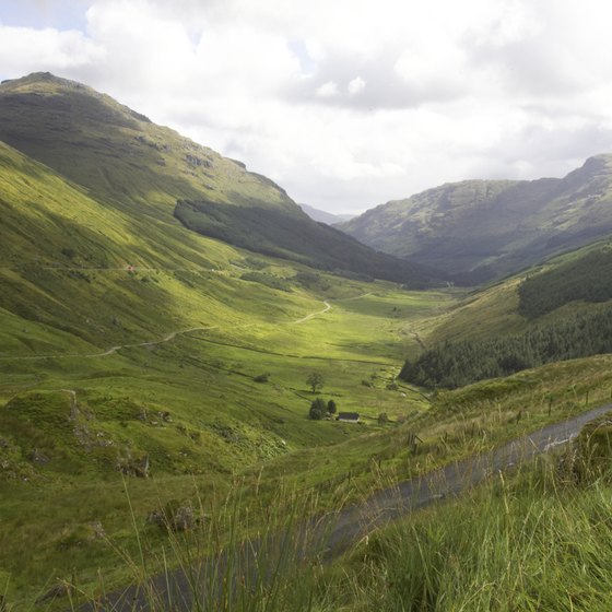 Scotland's legendary rain gives it a lush green landscape.