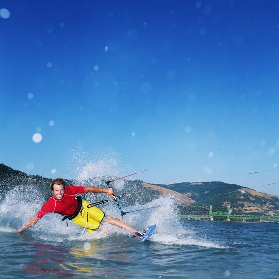 Famous for water sports, Hood River is thrilling day or night.