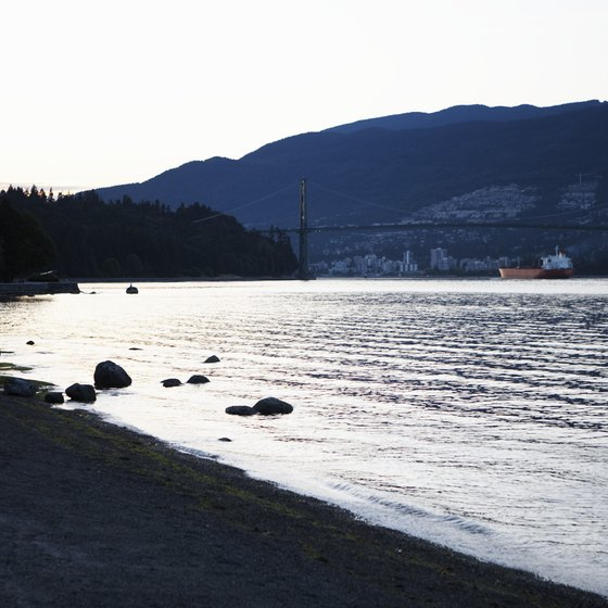 Part of the shoreline along Stanley Park, Vancouver