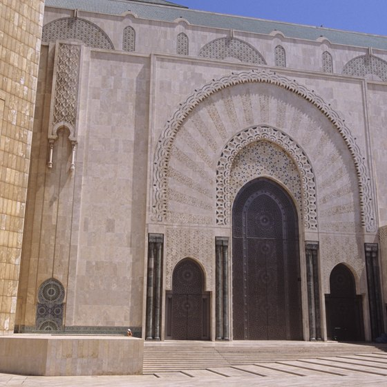 After landing in Casablanca, you can explore historic buildings.