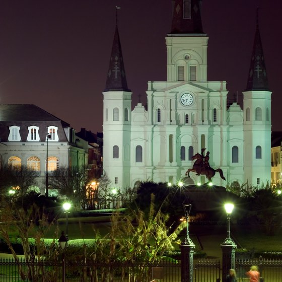 St. Louis Cathedral and Jackson Square are French Quarter highlights.