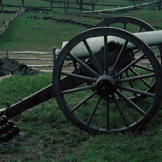 Ghosts are believed to roam the battlefields of Gettysburg, Pennsylvania.
