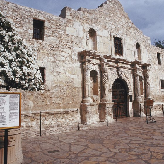 The front of the Alamo in San Antonio.