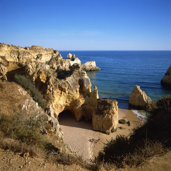 Golden beaches make Portugal's southern coast one of the country's top destinations.