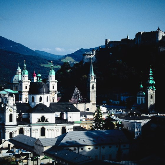 Salzburg is a popular day trip destination from Munich.