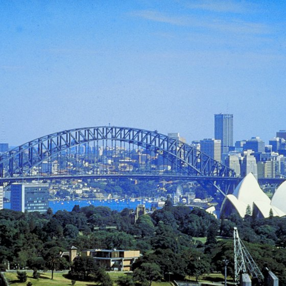 Famous cities like Sydney attract travelers from around the world to Australia.