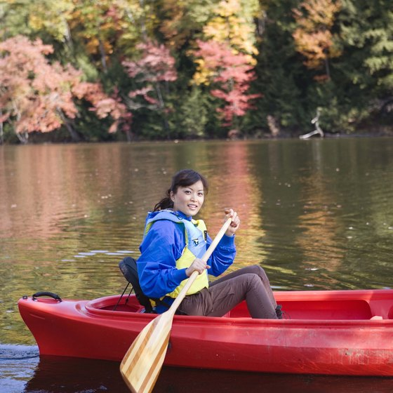 Canoeing offers a unique way to view Kentucky's autumn foliage.