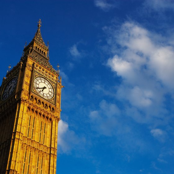 Big Ben, the Houses of Parliament clock tower, is a London landmark you won't see without a passport.