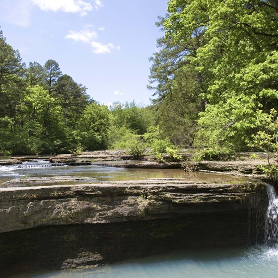 Haw Creek Falls is a scenic spot in the Ozark National Forest.