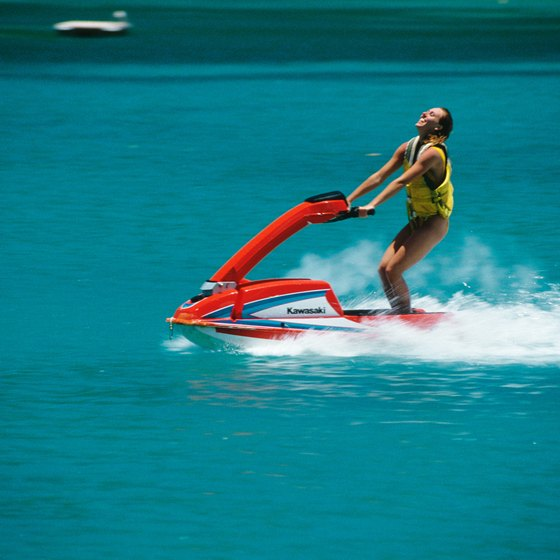 Southern California lakes have year-round jet ski weather.