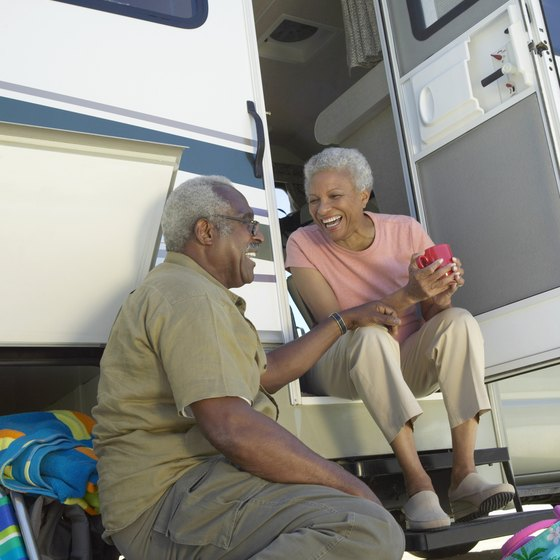 You can park your RV at a campground near Stockton Lake.