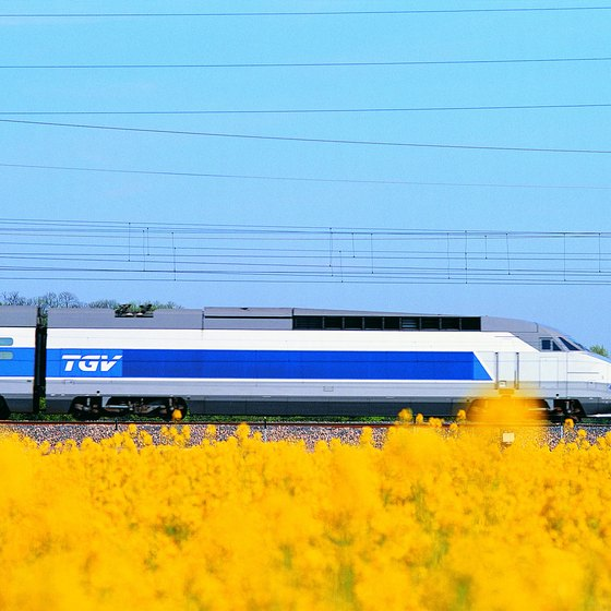France's Train à Grande Vitesse speeds through the country at high speeds.