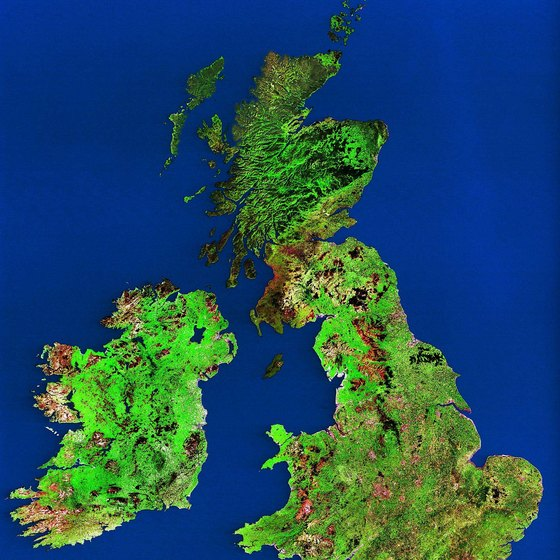 Ireland and Britain are very close, with only the North Sea dividing the two islands.