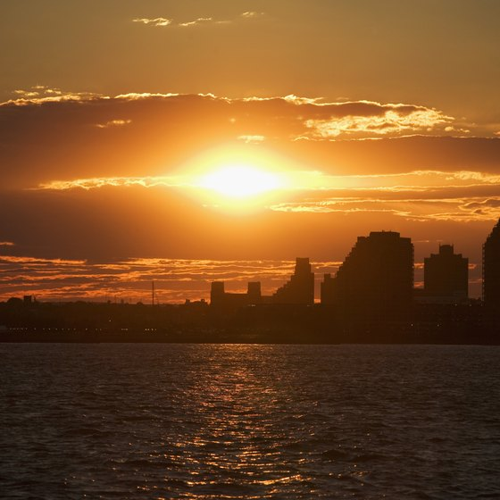 A sunset view of Hoboken, New Jersey.