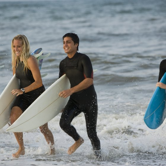 Surfing is a popular activity in New Smyrna Beach.