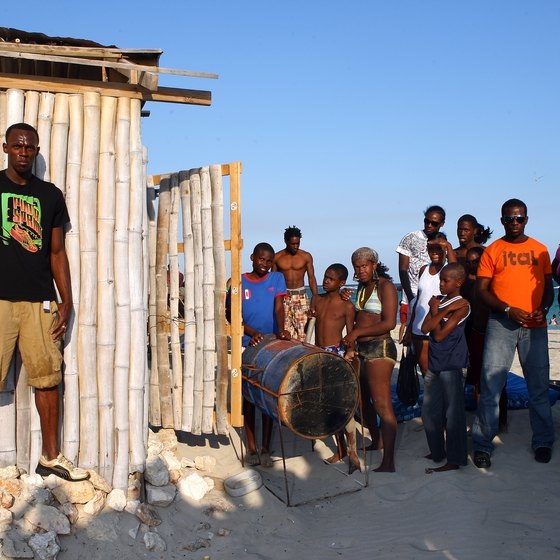 Jamaican athletic star Usain Bolt visits Hellshire Beach in Portmore, Jamaica.