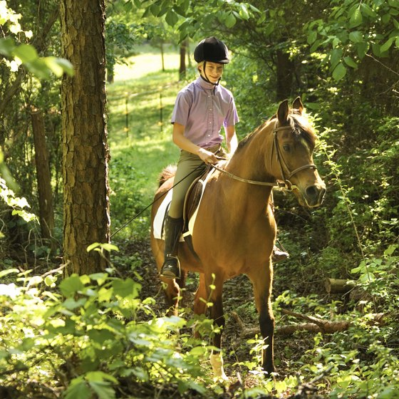 Children and teenagers are welcome on Branson trail rides.