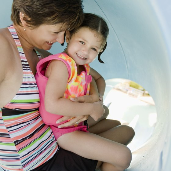 Many slides are safe, even for small children.