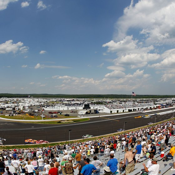 The Pocono Raceway is a favorite of NASCAR fans.