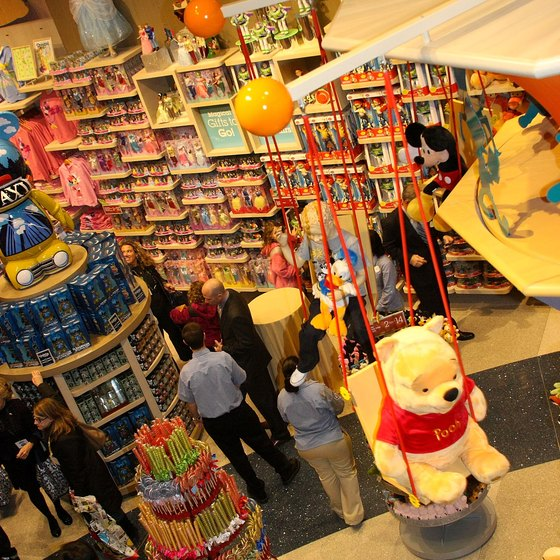 The Disney Store is one of the attractions for children in Times Square.