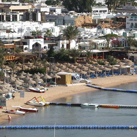 Sharm El Sheikh's Na'ama Bay has jetties for snorkelers that want to explore deeper waters.