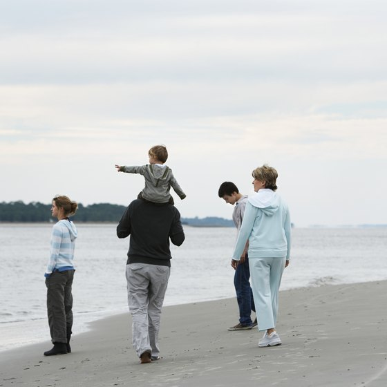South Carolina's beaches are a year-round draw for vacationing families.